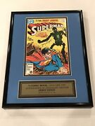 Superman 1 Comic Autographed By Jerry Siegel With Coa - No Fading - Orig Owner