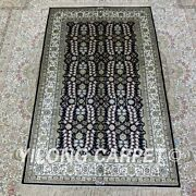 Yilong 2.7and039x4and039 All-over Handmade Silk Carpet Kid Friendly Indoor Area Rug H206b