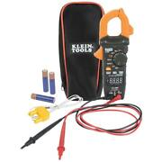 Klein Tools Clamp Meter Auto Ranging Ac Dc Digital Frequency Resistance 400 Amp