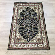 Yilong 2.5and039x4and039 Handknotted Silk Carpet Floor Decor Easy To Clean Area Rug Y157a