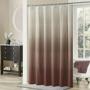 Ds Curtain Ombre Lace Chocolate Microfiber Fabric Shower Curtains,printed Brown