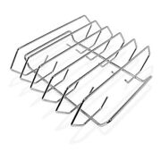 Rib Rack For Grilling- Holds 5 Full Slabs - 14 Wide - Fits Perfect In Bge Grill