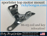 Harley Evo Sportster Motor Mount Key And Coil Relocation 86-03 Usa Made