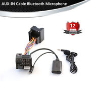 Bluetooth Microphone Cable Aux In Audio Radio Stereo Adapter For Mercedes Benz