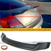 For 08-12 Accord 2dr Coupe Duckbill Highkick Unpainted Trunk Lip Wing Spoiler