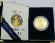 1986-w Us Mint American Gold Proof Eagle 50 1 Oz. Gold Proof 1st Year