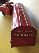 Vintage Buddy L Pressed Steel 24andrdquo Toy Advertising Texaco Gas Oil Tanker Truck
