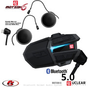 New Uclear Motion 6 Bluetooth Helmet Audio System Dual Kit Snowmobile Motorcycle