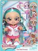 Kindi Kids Fun Time Friends 10 Inch Doll, Dr Cindy Pops With Stethoscope
