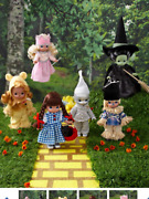 Precious Moments Wizard Of Oz Collection-collect All Six With Oz Music Box
