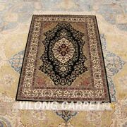 Yilong 2.7and039x4and039 Handknotted Silk Area Rug Antistatic Home Interior Carpets 0538