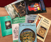 8 Vintage Antique Collector's Related Books . Guides . 1968 . 1977 . 1983 ...
