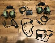 Aircraft Audio Equipment - 1 Sigtronics Transcom Ii 2 D.c. H10-50and039s 2 P.t.t.and039s