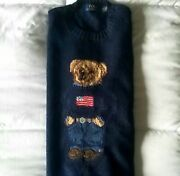 Mint Polo - Polo Bear American Flag Sweater - Small - Msrp 395