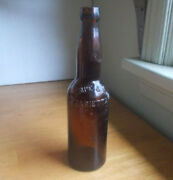 Mariettaohio Rempe And Son Amber 1890s Pre Pro Blob Top Beer Bottle Ehe Co Mark
