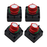 4pcs Dual Battery Selector Disconnect Switch For Marine Boat Vehicle 3 Speed