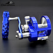 Camekoon Saltwater Right Hand Lever Drag 2-speed Conventional Boat Fishing Reel