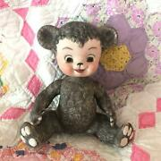 Joint Bear The Sun Rubber Co Vintage Pottery Doll Brown Rare Used