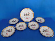 Herend Ming Plate Set With Big Serving Plate Porcelain 7 Plate
