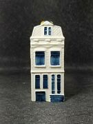 Collectible Klm Bols Delft Blue Miniature Canal House 71 Holland