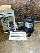 New Water Ace Sump Pump Submersible Utility Pump 1/6 Hp 25 Gpm 115 Volts R6s