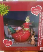 Gemmy 12ft Colossal With Max On Sleigh Christmas Inflatable