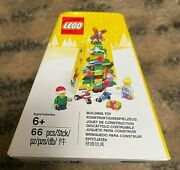 Lego 5004934 Christmas Tree With 2 Exclusive Minifigures Brand New 66 Pcs Retire