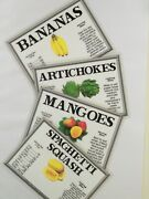 Produce Signs 300 Supermarket Produce Signs Grocery Store Signs 4 X 6