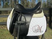 17 County Perfection Dressage Saddle W/ Calfskin Leathers/irons Incl. X-narrow
