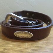 Canterbury Mens Leather Silver Concho Belt Dominican Republic Size 42