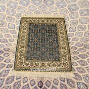 Yilong 2and039x3and039 Handmade Silk Carpet Blue All-over High Density Home Area Rug 238h