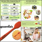 Eggssentials Poached Egg Maker - Nonstick 4 Egg Poaching Cups Assorted Sizes