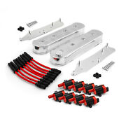 Chevy Ls1 Ls2 Ls3 Ls6 Ls7 Fabricated Valve Covers Coil Packs Wire Combo Kit