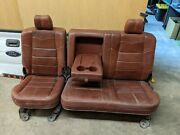 2008 2009 2010 Ford F250 F350 Rear Seat King Ranch Leather Back Seat