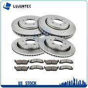 Brake Ceramic Pads And Rotors Front And Rear For Ford F-150 2015-2017 Drilled