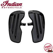 Indian Motorcycle Brand Rider Floorboards W/inlays In Gloss Black Pair