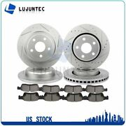 Front Rear Ceramic Pads And Rotors Brake For Dodge Durango Jeep Grand Cherokee