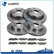 Front And Rear Brake Disc Ceramic Pads And Rotors For 2004-2006 Dodge Durango 5.7l