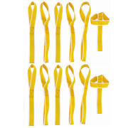 12 Pcs Fits Motorcycle Towing Cargo Snowmobile Yellow Soft Loop Tie Down Straps