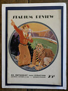 """1932 Southern Methodist Vs Syracuse Football Program Famous """"billy Cam"""" Cover"""
