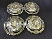 Set 1969 Chevy Camaro Rs Coupe Convertible Gm Full Hubcaps Driver