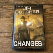 •1st Edition Signed• Changes -jim Butcher- Dresden Files-rare Hc 2010