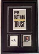Pete Buttigieg Trust Autograph / Signed 16 X 22 Framed Collectible Display New