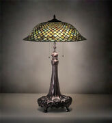 Style Green Stained Glass Table Lamp