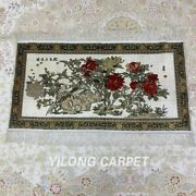 Yilong 2and039x3and039 Handknotted Silk Carpet Peony Home Decor Classic Tapestry Mc071h