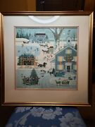 Charles Wysocki Cape Cod Christmas 1982 Framed Print Hand Signed And Numbered 552