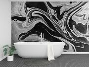 3d Black Abstract Paint 56 Texture Tiles Marble Wall Paper Decal Wallpaper Mural
