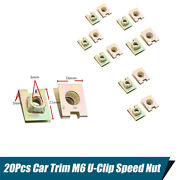 20x U-type Plate Nut Speed Clips Fixing Wire Cable On Car Door Dashboard Panel