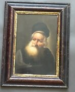 Antique Dutch 17th Or 18th Century Oil Painting Framed Man Portrait