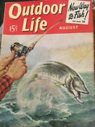 Vintage Outdoor Life Magazine Aug 1940 Mint Condition Jack O'connor Article